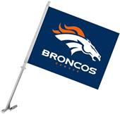"NFL Denver Broncos 2-Sided 11"" x 14"" Car Flag"