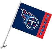 "NFL Tennessee Titans 2-Sided 11"" x 14"" Car Flag"