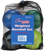 Champion Weighted Training Baseballs (Set of 4)
