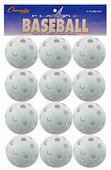 Champion White Plastic Baseballs (Package of 12)
