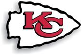 "NFL Kansas City Chiefs Logo 12"" Die Cut Car Magnet"