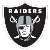 "NFL Oakland Raiders Logo 12"" Die Cut Car Magnet"