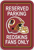 BSI NFL Washington Redskins Reserved Parking Sign