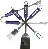 NFL Minnesota Vikings 4 Piece BBQ Grilling Set