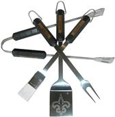 NFL New Orleans Saints 4 Piece BBQ Grilling Set