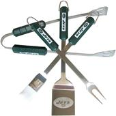 NFL New York Jets 4 Piece BBQ Grilling Set