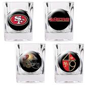NFL San Francisco 49ers 4 Piece Shot Glass Set