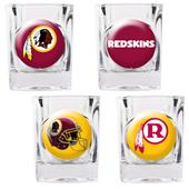 NFL Washington Redskins 4 Piece Shot Glass Set
