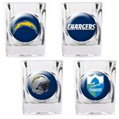 NFL L.A. Chargers 4 Piece Shot Glass Set
