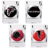 NFL Atlanta Falcons 4 Piece Shot Glass Set