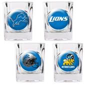 NFL Detroit Lions 4 Piece Shot Glass Set