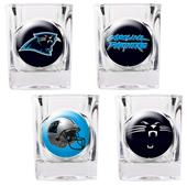 NFL Carolina Panthers 4 Piece Shot Glass Set