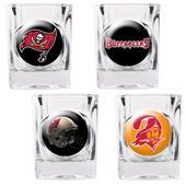NFL Tampa Bay Buccaneers 4 Piece Shot Glass Set