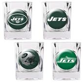 NFL New York Jets 4 Piece Shot Glass Set
