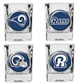 NFL St. Louis Rams 4 Piece Shot Glass Set