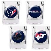 NFL Houston Texans 4 Piece Shot Glass Set