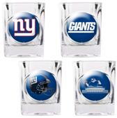 BSI NFL New York Giants 4 Piece Shot Glass Set