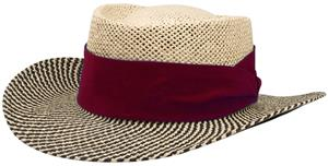 NATURAL TOYO & BLACK HAT/MAROON BAND