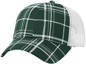 Richardson Plaid Front/Mesh Back Adjustable Caps