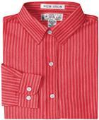 Baw Ladies LS Herringbone Gingham Woven Shirts