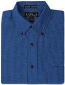 Baw Men's LS Mini Plaid Gingham Woven Shirts