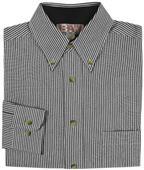 Baw Men's LS Classic Stripe Gingham Woven Shirts