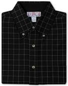 Baw Men's LS Window Pane Gingham Woven Shirts