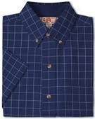 Baw Men's SS Window Pane Gingham Woven Shirts