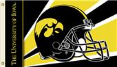 COLLEGIATE Iowa Hawkeyes Helmet 3' x 5' Flag