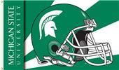 COLLEGIATE Michigan State Helmet 3' x 5' Flag