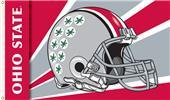 COLLEGIATE Ohio State Buckeyes Helmet 3' x 5' Flag