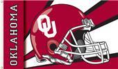 COLLEGIATE Oklahoma Sooners Helmet 3' x 5' Flag