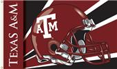 COLLEGIATE Texas A&M Aggies Helmet 3' x 5' Flag