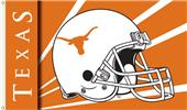 COLLEGIATE Texas Longhorns Helmet 3' x 5' Flag