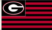 COLLEGIATE Georgia Stripes 3' x 5' Flag