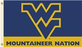 COLLEGIATE WVU Mountaineer Nation 3' x 5' Flag