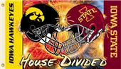 COLLEGIATE Iowa-Iowa State House Divided Flag
