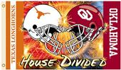 COLLEGIATE Oklahoma-Texas House Divided Flag