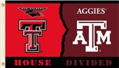 COLLEGIATE Texas Tech-Texas A&M House Divided Flag