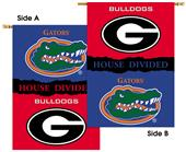 COLLEGIATE Georgia-Florida House Divided Banner