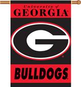 "COLLEGIATE Georgia ""G"" 2-Sided 28"" x 40"" Banner"