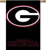 "COLLEGIATE Georgia Black 2-Sided 28"" x 40"" Banner"
