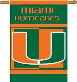 """COLLEGIATE Miami 2-Sided 28"""" x 40"""" Banner"""