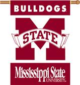 "COLLEGIATE Mississippi St 2-Sided 28"" x 40"" Banner"