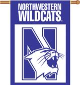 "COLLEGIATE Northwestern 2-Sided 28"" x 40"" Banner"