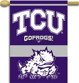 "COLLEGIATE TCU 2-Sided 28"" x 40"" Banner"