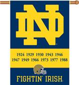 "COLLEGIATE Notre Dame 2-Sided 28"" x 40"" Banner"