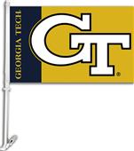 "COLLEGIATE Georgia Tech 2-Sided 11"" x 18"" Car Flag"