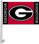 "COLLEGIATE Georgia 2-Sided 11"" x 18"" Car Flag"