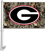 "COLLEGIATE Georgia Camo 11"" x 18"" Car Flag"